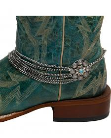 Cowgirl Confetti by AndWest Concho & Multi Chain Boot Bracelet