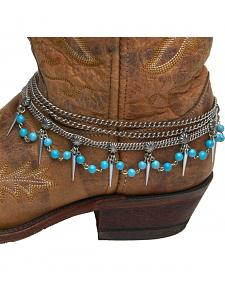 Cowgirl Confetti by AndWest Teardrop Chain & Turquoise Boot Bracelet