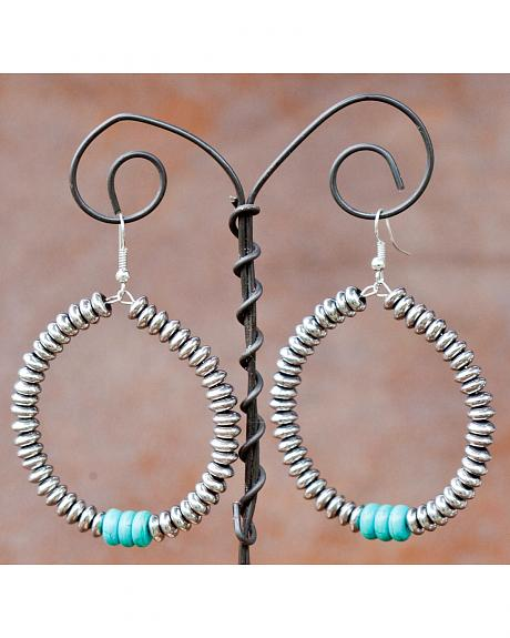 West & Co. Silver & Turquoise Teardrop Earrings