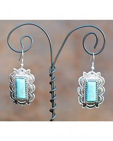 West & Co. Rectangle Turquoise Stone Earrings