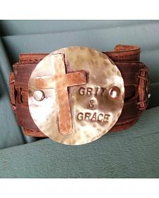 Jewelry Junkie Grit & Grace Distressed Leather Cuff Bracelet