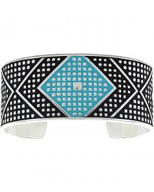 Montana Silversmiths Women's CrossCut Turquoise & Chevron Medium Cuff Bracelet