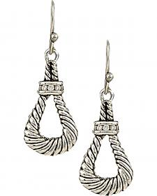 Montana Silversmiths Women's Twisted Rope Loop Earrings