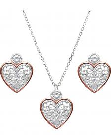 Montana Silversmiths Women's Western Lace Classic Heart Jewelry Set