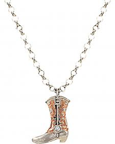 Montana Silversmiths Women's Cowboy Copper Scroll Boot Charm Necklace