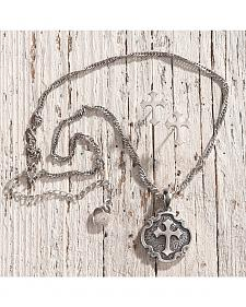 Lightning Ridge Fancy Cross Charm Necklace Set