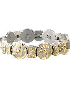 Sabona Ladies' Round Flower Duet Magnetic Bracelet