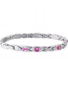 Sabona Ladies' Courageous Pink Ribbon Magnetic Bracelet
