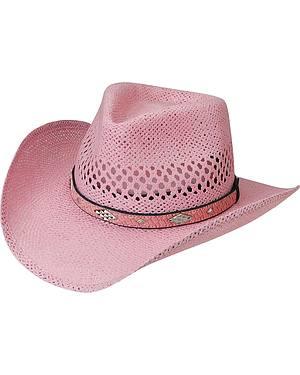 Silverado Pink Toyo Straw Cowgirl Hat