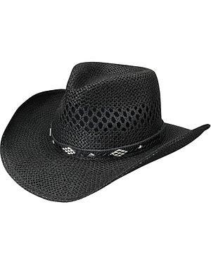 Silverado Black Toyo Straw Cowgirl Hat