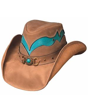Bullhide Cascade Range Leather Outback Hat