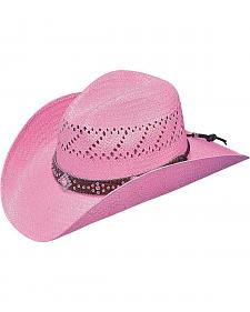 Blazin Roxx Pink Fashion Straw Cowgirl Hat