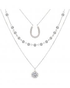 Montana Silversmiths Women's Fortune's Snowflake Necklace