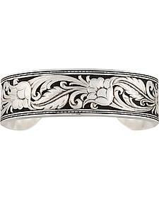 Montana Silversmiths Women's LeatherCut Floral Cuff Bracelet