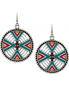 Rock 47 by Montana Silversmiths Points of Aztec Four Directions Earrings