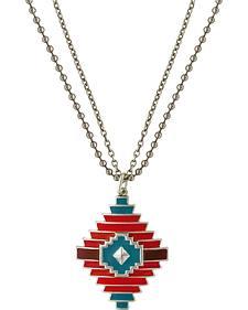 Rock 47 by Montana Silversmiths Points of Aztec Notched Diamond Necklace