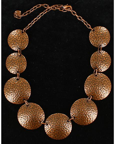 Blazin Roxx Copper Round Necklace