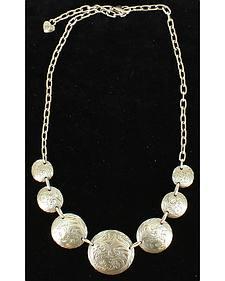 Blazin Roxx Silver Floral Round Necklace