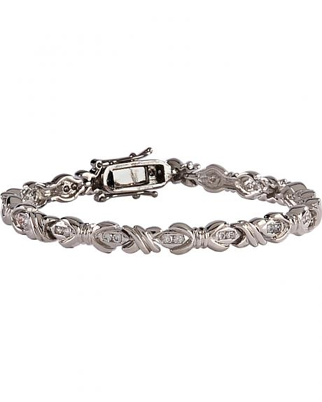 Montana Silversmiths Star Lights Barbed Wire Bows Link Bracelet