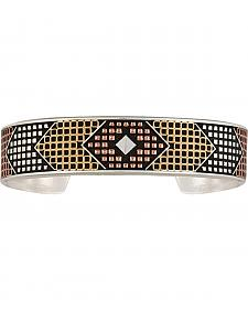 Montana Silversmiths CrossCut Bead & Mesh Cuff Bracelet