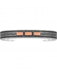 Montana Silversmiths CrossCut Threaded Ribbon Cuff Bracelet