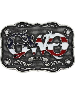 Girls With Guns Scalloped Banner Attitude Belt Buckle