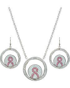 Montana Silversmiths Tough Enough to Wear Pink Jewelry Set
