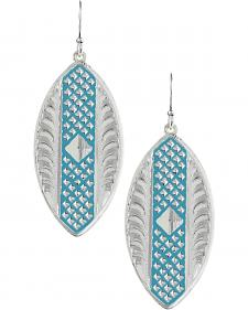 Montana Silversmiths CrossCut Turquoise Marquise Earrings