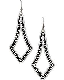 Montana Silversmiths Elongated Square Teardrop Earrings