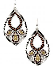 Montana Silversmiths Twisted Rope Paisley Earrings