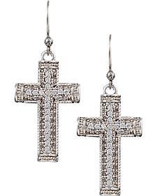 Montana Silversmiths Sparkling Faith Cross Earrings