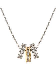 Montana Silversmiths Two-Tone Triple Shine Necklace