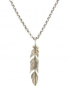 Montana Silversmiths Heirloom Gold Plume Feather Necklace
