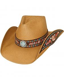 Bullhide Meaningful Beauty Shantung Panama Straw Cowgirl Hat