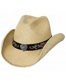 Bullhide Crazy For You Panama Straw Cowgirl Hat