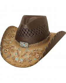 Bullhide Never Give Up Shantung Straw Cowgirl Hat