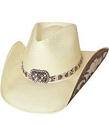 Bullhide Cowgirl Fantasy Shantung Straw Cowgirl Hat