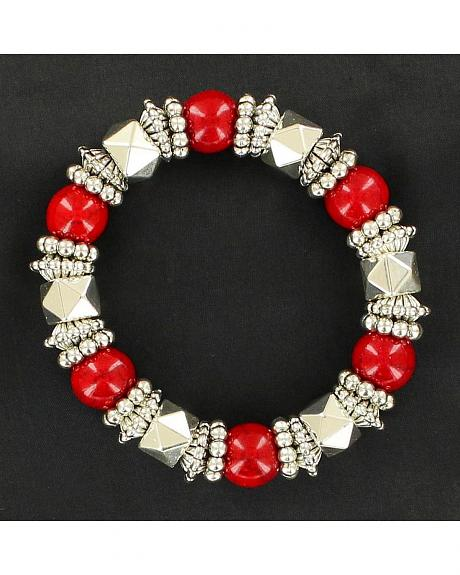 Blazin Roxx Beaded Stretch Bracelet