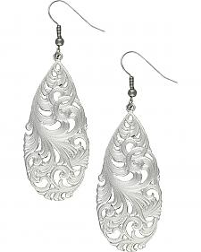 Montana Silversmiths Filigree Teardrop Earrings