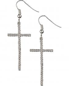 Montana Silversmiths Bling Cross Earrings