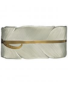 Montana Silversmiths Two-Tone Feather Bracelet