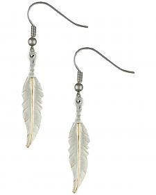 Montana Silversmiths Two-Tone Feather Dangle Earrings