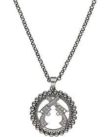 Montana Silversmiths Crossed Pistols Necklace