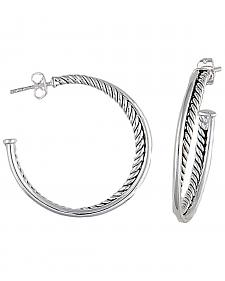Montana Silversmiths Rope Hoop Earrings