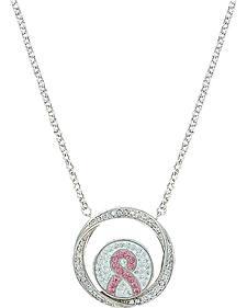 Montana Silversmiths Tough Enough to Wear Pink Enfolded Necklace