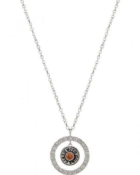 Girls With Guns Encircled Back of the Bullet Necklace
