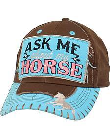 Blazin Roxx Women's Ask Me About My Horse Cap