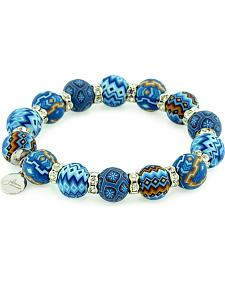 Jilzarah Blue Beaded Crystal Bracelet