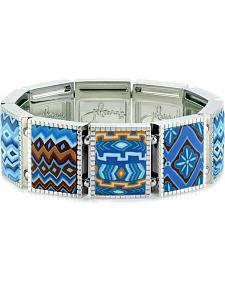 Jilzarah Blue Square Stretch Bracelet