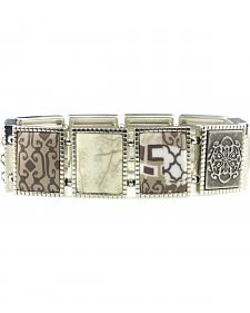 Jilzarah Latte Square Stretch Bracelet
